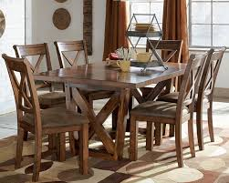 Furniture Farmhouse Dining Furniture Sets Ideas With Long Narrow Solid Oak Dining Room Table