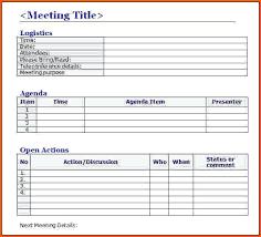 Free Minutes Template | Nfcnbarroom.com