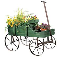 Amazon.com : Amish Wagon Decorative Indoor / Outdoor Garden Backyard  Planter, Green : Garden & Outdoor