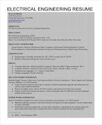 Electrical Engineering Resume Template Electrical Engineering Resume