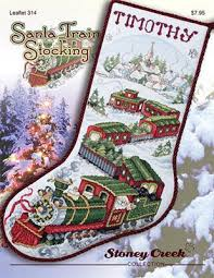 Cross Stitch Stocking Patterns Impressive Stoney Creek Santa Train Stocking Cross Stitch Pattern 48Stitch