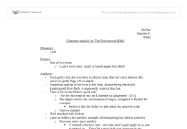 character analysis of leah price poisonwood bible a brief  document image preview