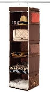 Amazoncom Zober 5 Shelf Hanging Closet Organizer Space Saver