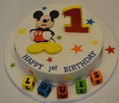 Mickey Mouse 1st Birthday Cake Celebration Cakes Cakeology