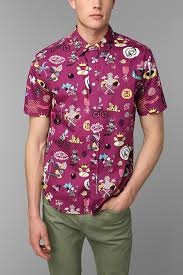 Patterned Button Up Shirts Enchanting Stussy Story Time ButtonDown Shirt Urbanoutfitters TOPSSHIRTS