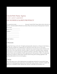 Nanny To Do List Template Nanny Agency Contract Templates At Allbusinesstemplates