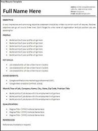 free resume templates using microsoft word