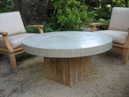 concrete coffee table round outdoor table