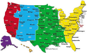 U S A Time Zone Chart Grabbablefreebies
