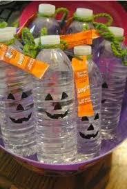 Water Bottle For Halloween. Good idea for kids school treat!