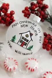 Exceptional First House Christmas Ornament Part - 8: First Christmas In Our  New Home Frosted