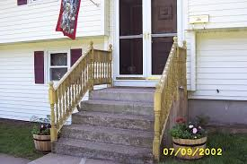 outdoor stair railing concrete stairs
