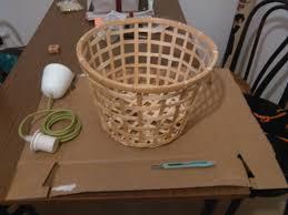 Hanging Lamp With Ikea Gaddis Bamboo Basket