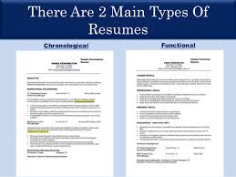There Are 2 Main Types Of Resumes Chronological Functional ...