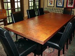 round copper top dining table dining room best choice of alluring copper top dining table with