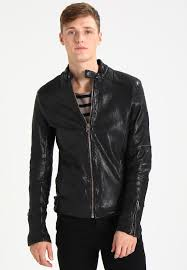 fraser leather jacket black