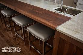 this kitchen island wood countertop was made in the usa by grothouse for a customer in