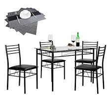 image unavailable image not available for color vecelo 5 piece dining table set with chairs