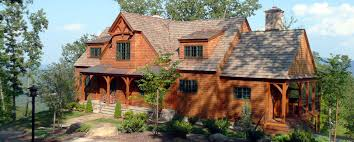 post and beam mountain home in virginia