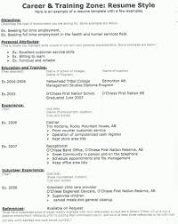 Resume Example 8 Cv Builder Examples