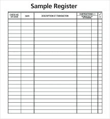 Check Balance Sheet Template And Bank Ledger Sheet Checkbook