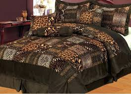microsuede bedding sets piece queen safari brown patchwork micro suede bed in a bag set micro