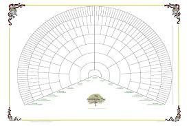 Lds Genealogy Fan Chart Free Generation Family Tree Online Charts Collection