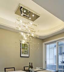 fish shape handmade blown glass chandelier light modern crystal glass living room decor luxury glass designed modern art chandelier hand blown glass