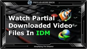 How To Watch Unfinished Downloaded Video Files In Internet Download