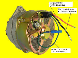 marine alternator inboard engines & components ebay electric tachometer for diesel engines at Wiring Diagram For Tachometer To Alternator