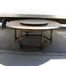 vintage oak circular dining table