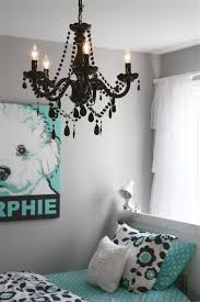 choosing chandeliers in bedrooms charming bedroom design for girls with cozy torquoise and black white