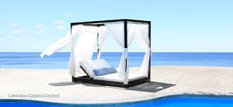 Lakeview cast aluminum outdoor cabana daybed patio furniture