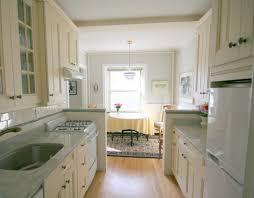 Kitchen Design White Appliances White Galley Kitchen Would I Keep White Appliances Comfortable