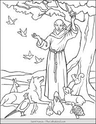 Francis Archives The Catholic Kid Catholic Coloring Pages And