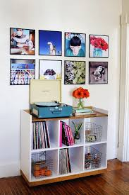 view in gallery record frame photo wall from a beautiful mess