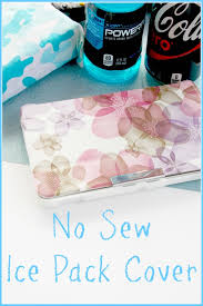 no sew ice pack cover pin