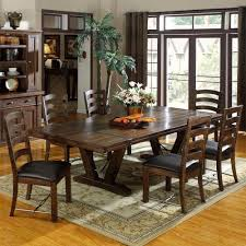 fantastic rustic dining room decoration rectangular cherry ideas essed wood dining chairs including black leather chair pads and rectangular solid cherry
