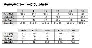 Anne Cole Swimwear Size Chart Bedowntowndaytona Com