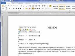 Creating A Business Memo