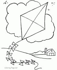 Small Picture Boy Flying A Kite Coloring Page Free Printable Coloring Pages