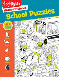 What's not to love about hidden pictures? School Puzzles Highlights Hidden Pictures Highlights Press 9781684376551