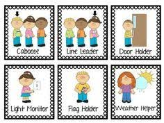 Preschool Job Chart Clipart Clipart Station