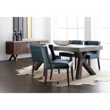 Concrete Top Dining Tables Sunpan 27902 Warwick Dining Table W Sealed Concrete Top Acacia