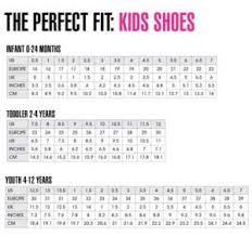 Stride Rite Kids Shoes Size Chart Childrens Shoe Chart Size Chart For Boy Shoes Striderite