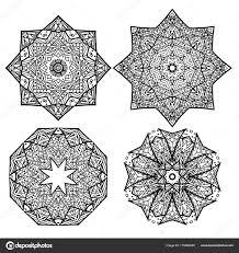 круглые снежинки мандалы векторное изображение Veleri 175482380