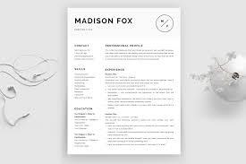 Minimal Resume Template Madison Bonus