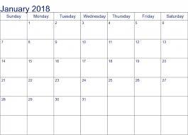 calendar january 2018 template free january 2018 calendar template