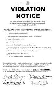 notice of violation template ihtfp hack gallery violation notices on hacks