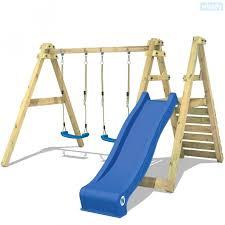 wooden swing set skyglider childrens swing 620311 k